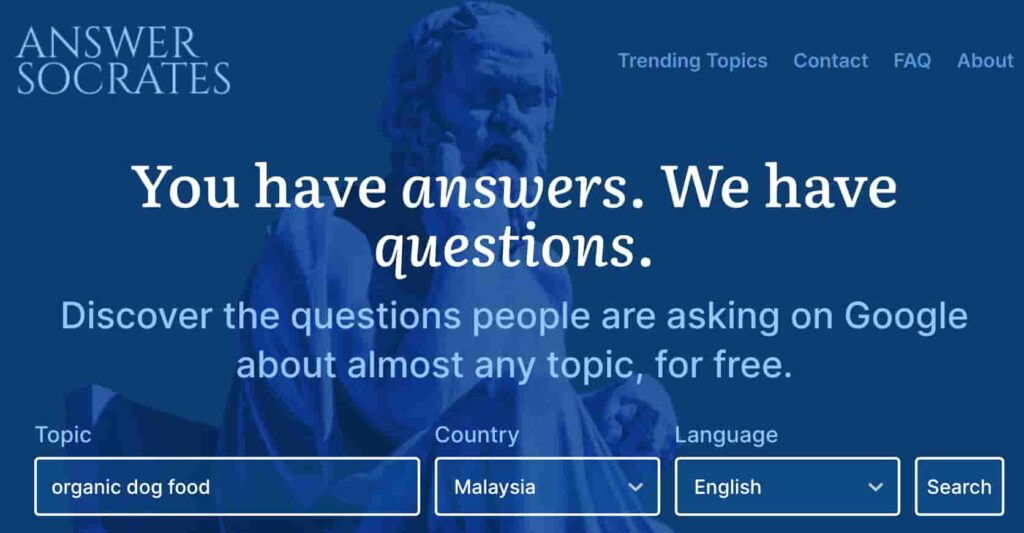 Answer Socrates Homepage